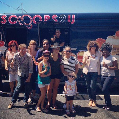 ice cream novelty group truck