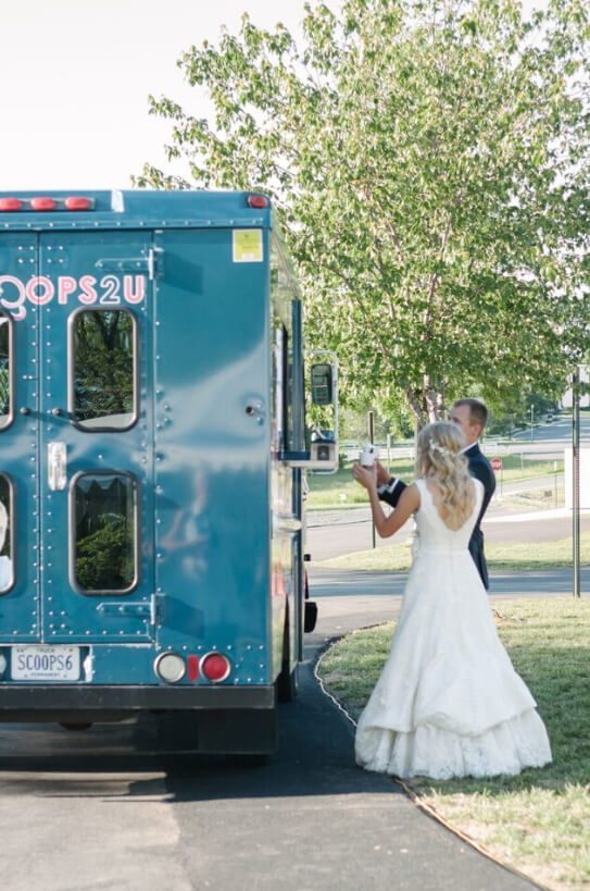 wigfield wedding couple with scoops6